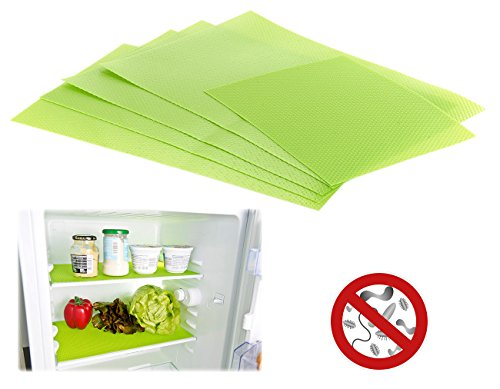 Rosenstein & Söhne Frischhaltematte: Antibakterielle Kühlschrankmatten, geruchshemmend, 5er-Set (antibakterielle Kühlschrank Matten)