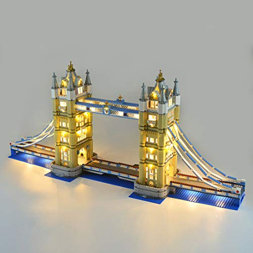 TETAKE Beleuchtung LED Light Kit für Lego 10214 - Licht Beleuchtungsset für Lego Tower Bridge (Nicht Enthalten Lego Modell)