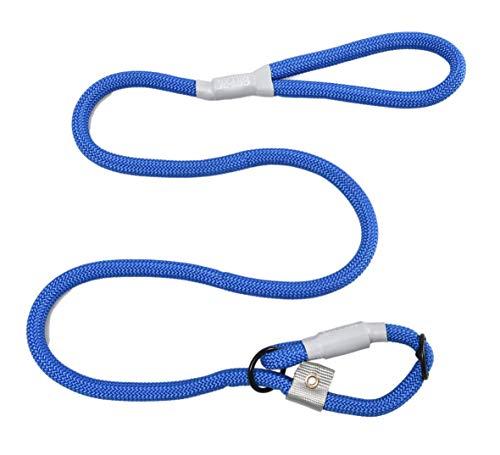 Cesar Millan Leine - Trainingsleine für Hunde - 2in1 Halsband Hund und Leine - Slip Lead - Retrieverleine mit integrierter Halsung, Wetterfestes und Robustes Tau (Groß, Blau)