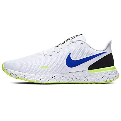 Nike Revolution 5 Running Shoe Mens Cw5846-100 Size 10, White/Racer Blue-black-ghost Green