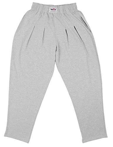 Pantalones Holgados para los Hombres Gimnasio de musculación de algodón y Spandex