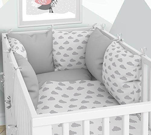 Kissen-Nestchen - Sechs Kissen samt Bezügen für das Babybett 70 x 140 cm