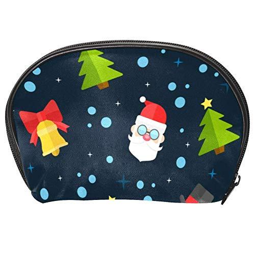 Bennigiry, borsa per cosmetici natalizia, con motivo pupazzo di neve, organizer da viaggio, con cerniera multifunzione