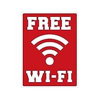Biijo FREE Wi-Fi ステッカー シール ワイファイ 防水シール 外国人観光客用 識別 標識 案内 9cm×12cm (D.レッド)