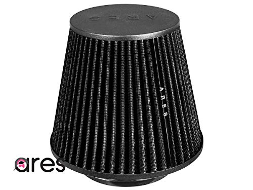"""Ares Black 4"""" 102mm Inlet Universal Truck Cone Dry Air Intake Filter NEW"""