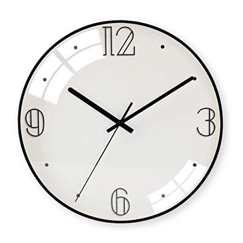 Everyday home 12 pouces moderne élégant élégant silencieux non-coutil en métal horloge murale ronde, simple créatif horloge murale salon chambres bureau cuisines (Couleur : F, taille : 30cm)
