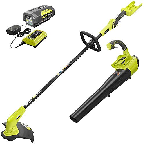 RYOBI Trimmers 40-Volt Lithium-Ion Cordless Attachment Capable String Trimmer, 4.0 Ah Battery and Charger Included