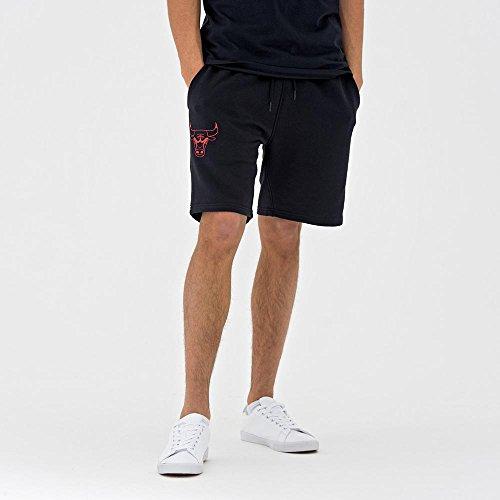 New Era NBA Team App Pop Logo Short CHIBUL–Short Linie Chicago Bulls, Unisex Erwachsene, schwarz (BLK)