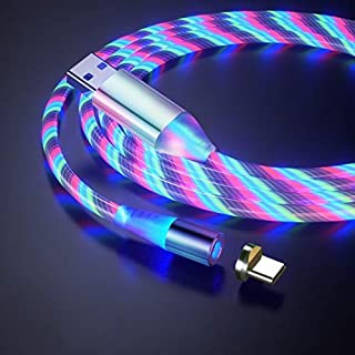 USB to Type-C/USB-C Magnetic Suction Colorful Streamer Mobile Phone Charging Cable, Length: 2m (Color : Color Light)