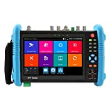 Woshida CCTV Tester, 7 Inch CCTV Camera Tester with IP/TVI/AHD/CVI/SDI/POE/WiFi /4K H.265 / HDMI / RJ45 TDR / 7' Touch Screen All in One Security CCTV Tester Monitor 9800MOVTADHS Plus
