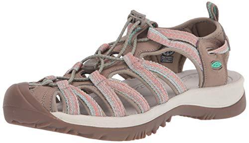 Keen Whisper W-Barberry/Neutralgrau Sandalen für Damen, Braun - braun - Größe: 39 EU