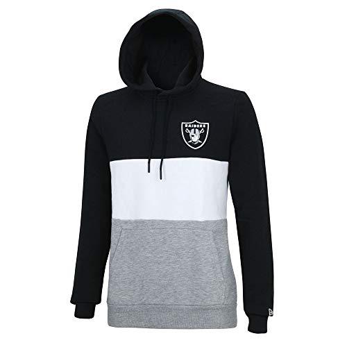 New Era NFL Colour Block Oakland Raiders Kapuzenpullover Herren schwarz, M