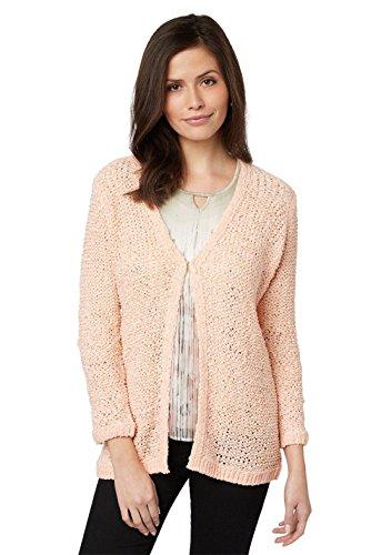 Bonita Damen Cardigan Strickjacke Jacke apricot Langarm 1207036 (L)
