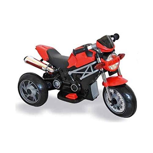 giordanoshop Moto Elettrica per Bambini 6V Naked Rossa