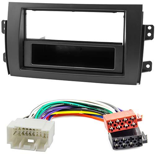 Watermark WM-6208S1 Radioblende Set für FIAT Sedici SUZUKI SX4 ab 2006 mit ISO Adapter Kabel