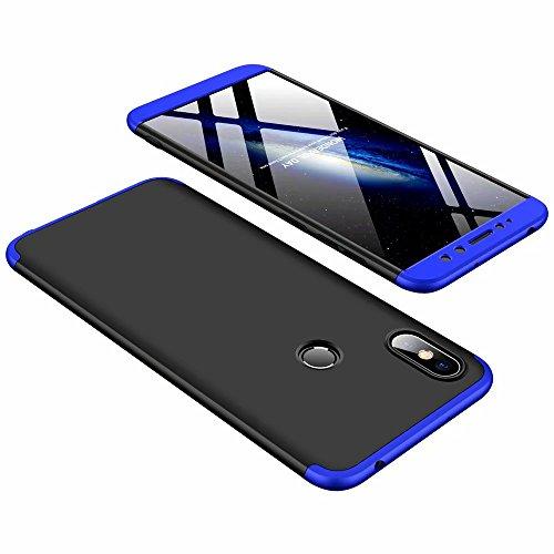 DESCHE compatibles con funda Xiaomi Redmi S2 Azul Negro, PC duro Cubierta protectora Ultrafino Anti-rasguños Parachoque Mate Phone Case - Azul Negro
