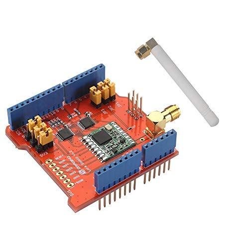 Stemedu Dragino Lora Shield 868 MHz, RFM95W inalámbrico, compatible con Arduino UNO Mega 2560 Leonardo DUE, 3.3 V o 5 V bajo consumo de energía, antena IPEX