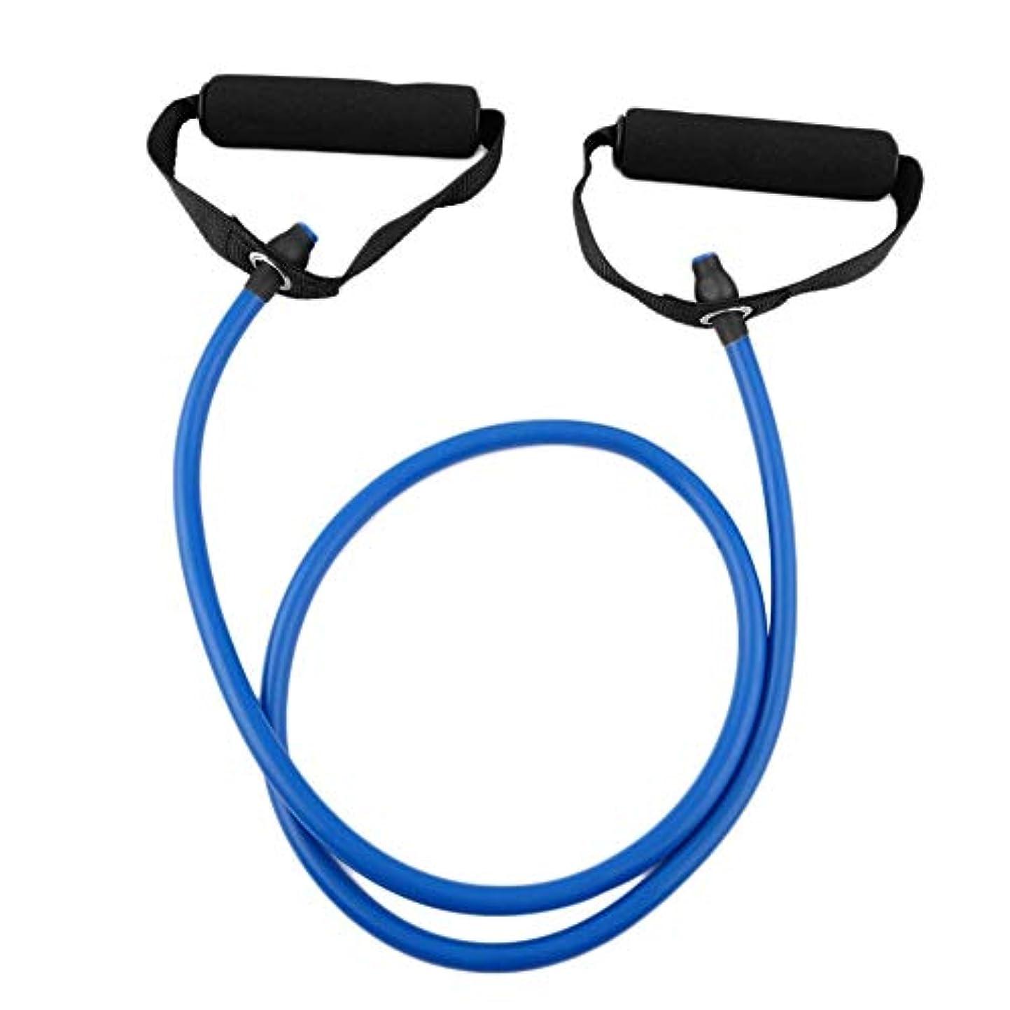 自動車最大限アフリカフィットネス抵抗バンドロープチューブ弾性運動用ヨガピラティスワークアウトホームスポーツプルロープジムエクササイズツール(Color:blue)