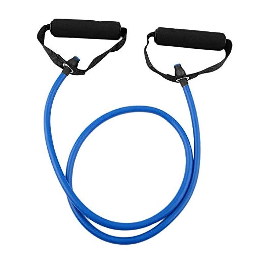 五パターン解決フィットネス抵抗バンドロープチューブ弾性運動用ヨガピラティスワークアウトホームスポーツプルロープジムエクササイズツール(Color:blue)