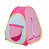 Tech Traders Kids Active Pop Up Play Tent - Play House, Indoor or Outdoor Portable Play Tent Pink