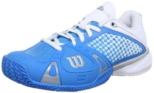 WILSON Wilson Rush ProWRS316990E065, Damen Tennisschuhe, Blau (cyan), EU 40 1/3 (UK 6.5) (US 8.5)