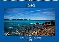 Ibiza Kueste, Buchten und Straende (Wandkalender 2022 DIN A2 quer): Reiseziel Ibiza, nicht nur eine Partyinsel. (Monatskalender, 14 Seiten )