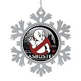 BEDKAGD Casbuster Casper The Friendly Ghost Cazafantasmas de Navidad colgante de aleación de copo de nieve, recuerdos de Navidad, decoraciones navideñas personalizadas.