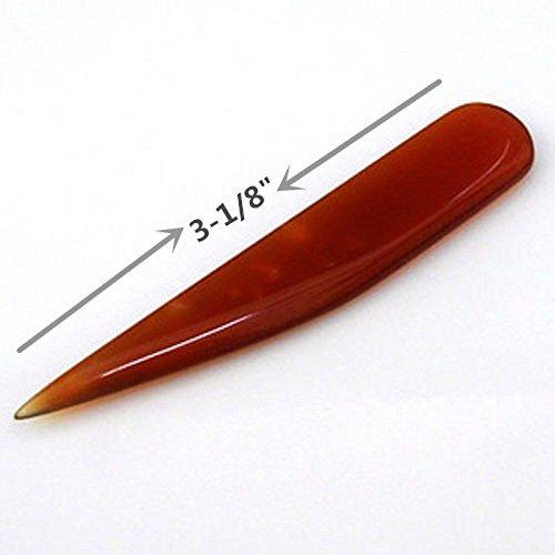 pomcat 1pcs para joyería mano Ágata cuchillo bruñidor para dorado y plateado pulido herramienta