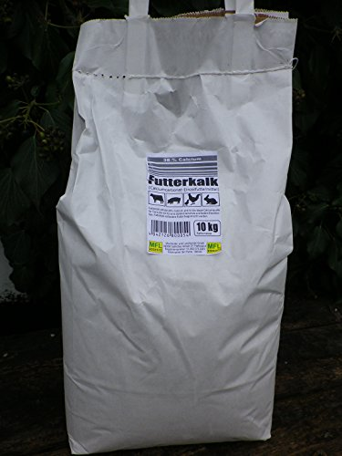 MFL Edderitz Futterkalk Kalk für alle Nutztiere 38{d95a8d3a9f84500d21495d20327bb521cd4aa599dc06ce661540c3ce5a83b733} Calcium 10 kg Tragetasche (1x 10 kg)
