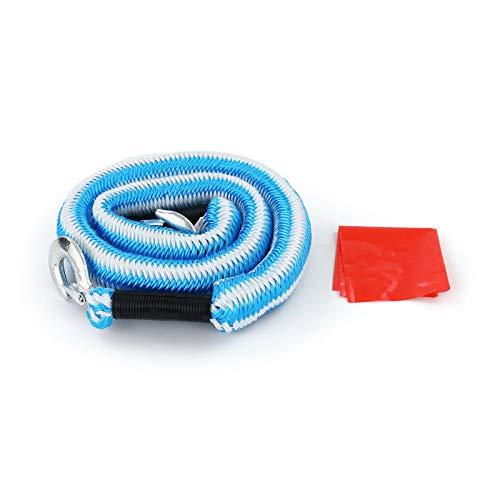 ADHW PKW KFZ Sicherheits Abschleppseil elastisch 4 Meter 2000 kg 2T Blau Weiss