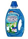 Weißer Riese Universal Gel, Flüssigwaschmittel, 120 (6 x 20) Waschladungen, extra stark gegen Flecken