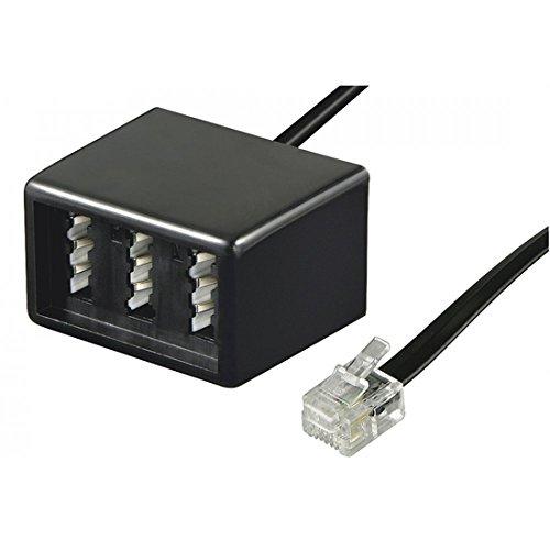 Wentronic Telefon Adapter (RJ11 Stecker auf TAE Buchsen NFF) schwarz