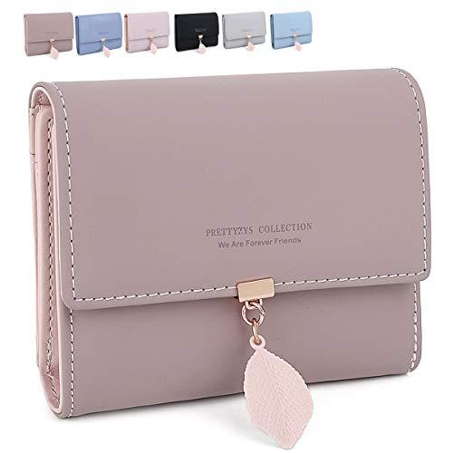 ZhengYue Damen Geldbeutel, Quaste PU Leder Portemonnaie Kleine Brieftasche Geldbörse Für Frauen Altrosa