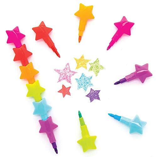 Baker Ross AX331 Sterne Wachsmalstifte zum Stecken für Kinder - 8 Stück, Saisonale Künstler- und Bastelbedarf zum Basteln und Dekorieren zur Winterzeit