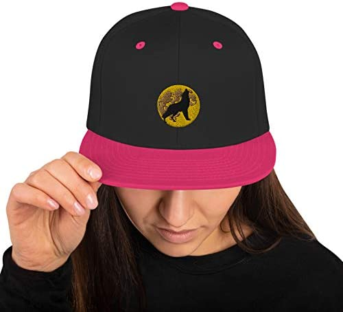 Personalized Fashinable Wolf and Moon Snapback Hat for Unisex