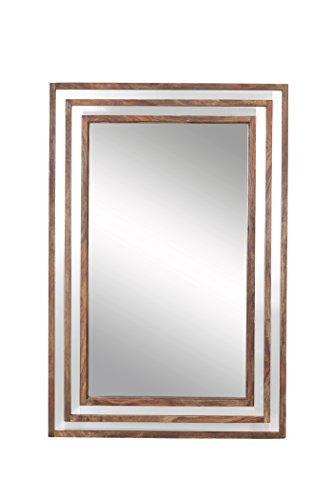 The Wood Times Spiegel Sheva, FSC100%, Sheesham Holz, Braun, 90 x 60 x 4.5 cm