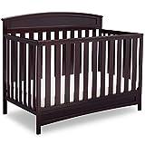 Delta Children Sutton 4-in-1 Convertible Baby Crib, Grey