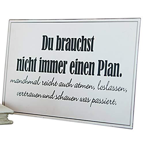 Loberon Dekoboard Plan, Eisen, H/B ca. 41/20 cm, weiß