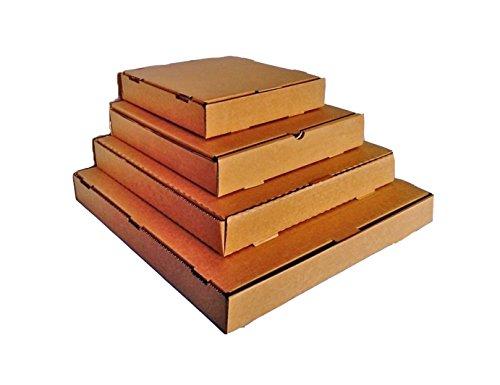 Cajas estilo cajas de pizza para envíos postales, cajas de cartón para enviar LP de vinilo, 25 unidades (color marrón), color marrón 9.5