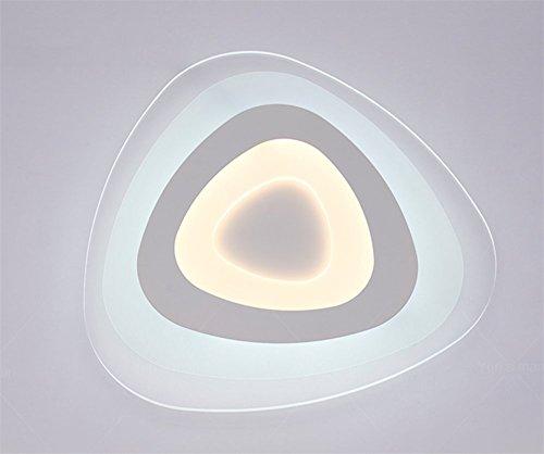 Design moderne plafonnier minimaliste salon chambre plafond Mode personnalité créative acrylique Lampe de plafond LED, Ø 53 cm (Y Compris Ampoules).