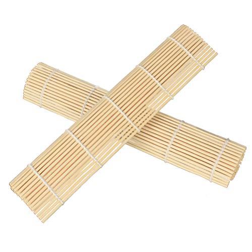 BESTONZON Alfombrilla de bambú para sushi japonés, 24 x 24 cm