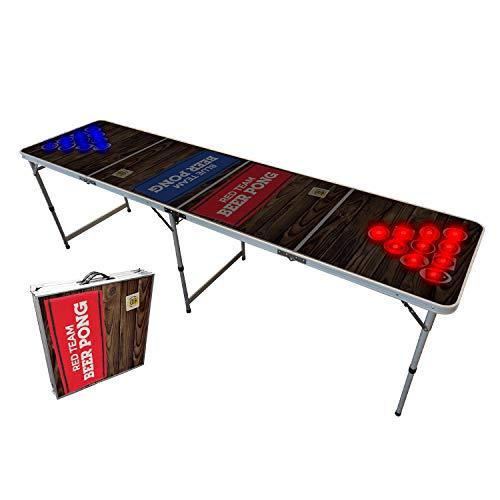 Offizieller Light Hole Beer Pong Tisch | Mit LED Beleuchtung | Premium Qualität | Offizielle Wettkampfmaße | LED Beer Pong Table | Kratz und Wassergeschützt | Partyspiele | Trinkspiele | 100% Spaß