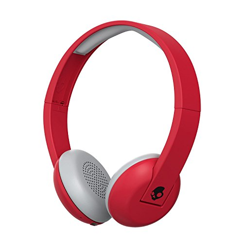 Skullcandy Uproar Bluetooth Wireless On-Ear Headphones with Built-In Microphone and Remote, 10-Hour Rechargeable Battery, Soft Synthetic Leather Ear Pillows for Comfort, Ill Famed Red
