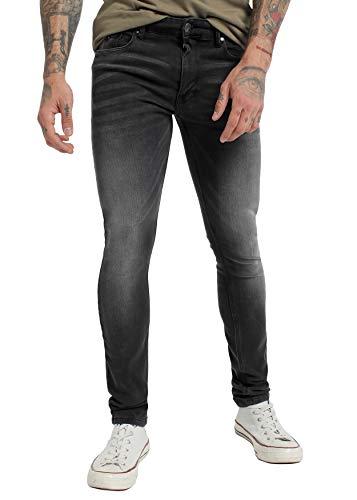 SIX VALVES - Pantalon Denim para Hombre   De algodón   Cierre con Cremallera   Tallaje en Pulgadas