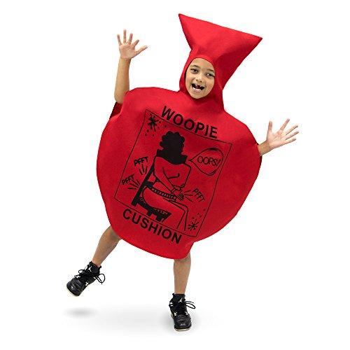 Woopie Cushion Children's Costume for Kids - Red Fart Balloon Suit, Boys & Girls