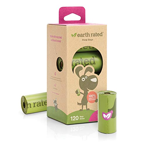 Poop Bags Earth Rated 120-Count Dog Waste Bags, Biodegradable Lavender-Scented, 8 Refill Rolls