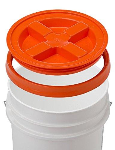 5 Gallon White Bucket & Gamma Seal Lid - Food Grade Plastic Pail &...