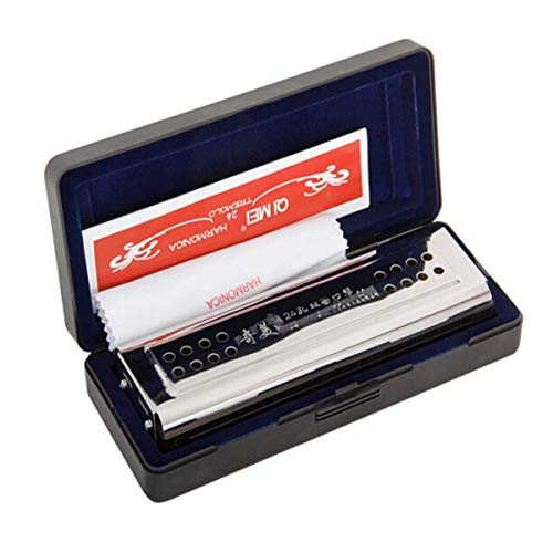 Review Shengshihuizhong Harmonica, 24-hole Tremolo Harmonica Double-sided C, G Harmonica, Suitable F...