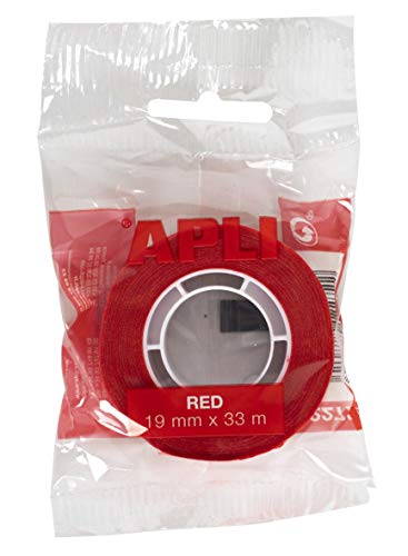 APLI–Nastro adesivo Sacchetto rosso 19 mm x 33 m rosso