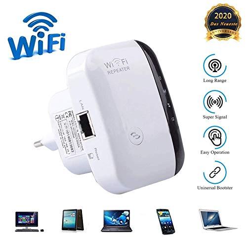 WiFi-Netzwerk-Repeater-Extender, 300-Mbit / s-Geschwindigkeitssignalverstärker, 2,4-G-Netzwerk, integrierte 10/100-Mbit / s-LAN-Portantenne, einfach einzurichten, kompatibel mit Router und Glasfaser.